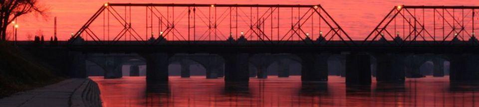 Harrisburg City Train Bridge Sunrise